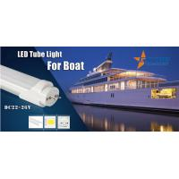 Quality DC12 / 24V 2ft/4ft T8 Led Tube Light 18 Watt For Boat/ Ship 100-110Lm/w for sale