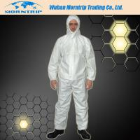 Quality Reinforced Disposable Waterproof  PP SMS Microporous Nonwoven Safety Coverall for sale