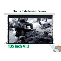 Wholesale HD Tab Tensioned Motorized Projection Screen Matte White Wall Mount 108x81 Inch from china suppliers