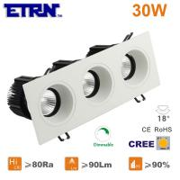 Wholesale ETRN Brand CREE COB Square 10W x3 Dimmable LED Downlights Ceiling Lights Recessed Lights from china suppliers