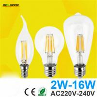 Wholesale Antique Retro Vintage LED Edison Bulb E27 LED Bulb E14 Filament Light 220V Glass Bulb Lamp 4W 8W 12W 16W Candle Light La from china suppliers
