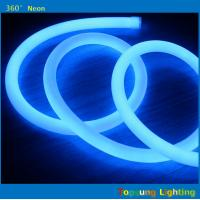 Wholesale IP67 110 volt dmx led neon rope 16mm 360 degree round flex lights blue from china suppliers