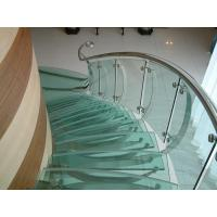 Wholesale 10mm safety toughened laminated glass for glass stair in customer size from china suppliers