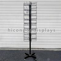 Wholesale 8 Tiered 96 Prongs 65 Long Rotating Display Rack Black Color With Hanging Hook from china suppliers