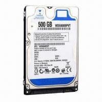 Wholesale Laptop Internal Hard Drive with 2.5-inch Notebook 500GB Hard Disk Drive, 5,400rpm Speed, SATA2.0 from china suppliers