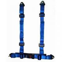 Wholesale Durable Blue Nylon Racing Safety Belts With Retractor , Four Point Seat Belt from china suppliers