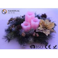 Wholesale 3pk Flower Shaped Decorative Led Candles Fake Wick With CE / ROHS from china suppliers