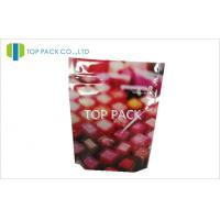 Wholesale Colorful Desgin Stand Up Pouch Packaging Ziplock Front Printed Back Clear Lipstick from china suppliers