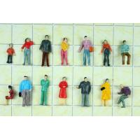 Wholesale P100-11B 1:100 HO Architectural Scale Model People Painted Figures 1.8cm from china suppliers