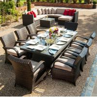 Wholesale long dining table China rattan lounge chair furniture set outdoor wicker garden set for family / friend / party reunion from china suppliers