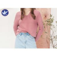 Double V Neck Womens Knit Pullover Sweater Drop Shoulder Chunky Loose Top