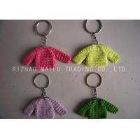 Wholesale Knitted Christmas Tree Decorations Four Color Crochet Sweaters With Metal Chain from china suppliers