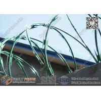 CBT-65 green color powder coated razor wire