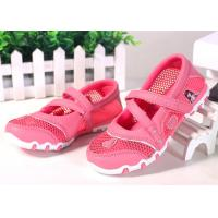 Wholesale Princess Style Children Sports Shoes , Kids Strap Shoes Mesh Upper Cartoon Pattern from china suppliers