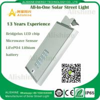 Wholesale 5 Years Warranty Integrated Solar Smart LED Street Light All in One Dusk to Dawn from china suppliers