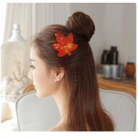 Wholesale Hair Decoration Leather Velcro Hair Bows For Infants / Babies / Little Girls from china suppliers