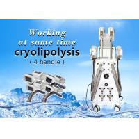 Quality 4 Handle Working Same Time Cryolipolysis slimming machine for fat reducing loss for sale