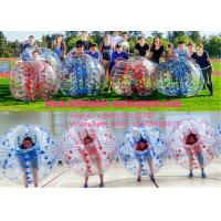 Wholesale Color Dots 1.0mm PVC Professional Clear Blow Up Bubble Ball , Bumper Balls Inflatable from china suppliers