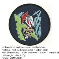 Wholesale Embroidered drink coasters tableware, vintage cotton cup coaster with embroidered design, from china suppliers