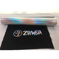 Wholesale 27 Yards Siser Hologram Heat Transfer Vinyl  , Easy Weed Silver Holographic Vinyl from china suppliers