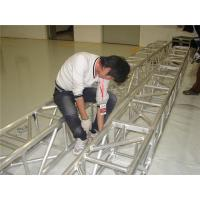 Quality 0.5m - 4m Aluminum Square Truss Cross Strengthen Tube For Indoor Booth Constructing for sale