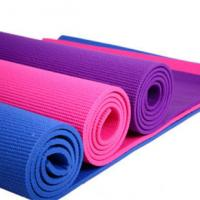 Wholesale Gym Customized ECO Yoga Mat Soft Rubber Non Slip 8mm Yoga Mat in Red from china suppliers