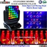 Buy cheap 36*15W Osram LED Matrix Beam RGBW Moving Head Stage Light 18 DMX Channel from wholesalers
