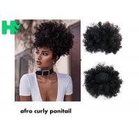 Wholesale Black Synthetic Hair Pieces , Afro Curly Human Hair Ponytail Extensions from china suppliers
