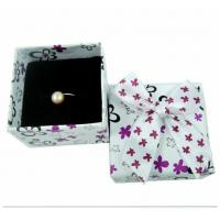 Wholesale Engagement Ring Gift Jewelry Paper Boxes Packaging Purple And White Spot from china suppliers