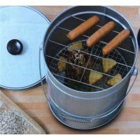 Wholesale Portable Barrel Shape BBQ Smoker Box from china suppliers