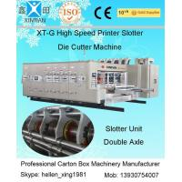 Wholesale Grinded Surface Flexo Printing Plotting Machine , XT-L Lubrication Four-color Slotting from china suppliers