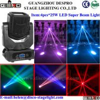 Wholesale LED Super Moving Head Beam Light 4 pcs*25W Theatre Stage Lighting from china suppliers
