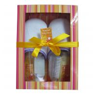 Wholesale BC-1205001 paper box slipper foot bubble bath gift set, keep your body sprit in balance from china suppliers