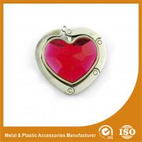 Wholesale Luxury Metal Portable Purse Hook Hangers For Handbags Heart Shape from china suppliers