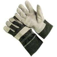 Wholesale White , black Industrial work  Leather Work Glove with jean cotton back 604CAJA from china suppliers