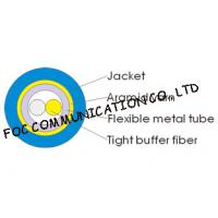 Wholesale 3.0mm Indoor Armored Fiber Optic Cable Duplex Round Soft and High Tensile Resistant from china suppliers