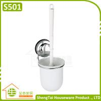 Wholesale Bathroom Wall Mounted Sucker Toilet Brush With Holder from china suppliers