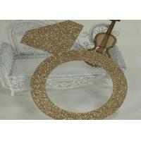 Wholesale Glitter Paperboard Ring Glitter Paper Letters Gold Color For Birthday Cake Decor from china suppliers