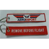 Wholesale Remove Before Flight Aeroesport Fabric Embroidery Pilot Key Chains from china suppliers