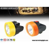 Wholesale 2.8Ah Lithium-ion Battery IP68  LED Miners Headlamp for Hard Hats with Movable Steel Hook from china suppliers