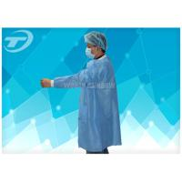 Wholesale Lab Disposable Visitor Coats With Knitted Cuffs And Collar / BPP Fabric from china suppliers