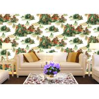 Wholesale Chinese Style contemporary wall coverings Mountains And Rivers For Sofa/TV Background from china suppliers