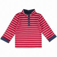 Wholesale Children's T-shirt, long sleeves, made of 100% cotton heavyweight jersey from china suppliers