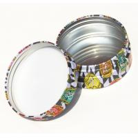 Wholesale Round Cosmetic Powder Makeup Tin Box Packaging CMYK Printed Round Tin Cans from china suppliers