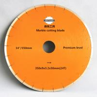 Buy cheap 350mm marble cutting blades/diamond cutting disks from wholesalers