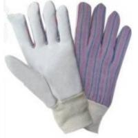 Wholesale Purple Color Leather Work Gloves with striped cotton back for Automotive Manufacturing from china suppliers