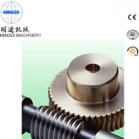 Wholesale Black Finished Carton Steel Metal Worm Crown Wheel Gear Turbo For Equipment ISO9000 from china suppliers