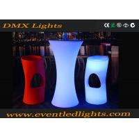 Wholesale Plastic Lighted up illuminated Led Cocktail Table OR bar table for party from china suppliers