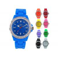 Wholesale NY London Crystal Bezel Plastic Gents Ladies Summer Fashion Ice Silicone Watches from china suppliers
