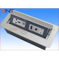 Wholesale Power Supply Hidden Desk Pop Up Sockets With 3.5 Audio Oval Shape Corner from china suppliers